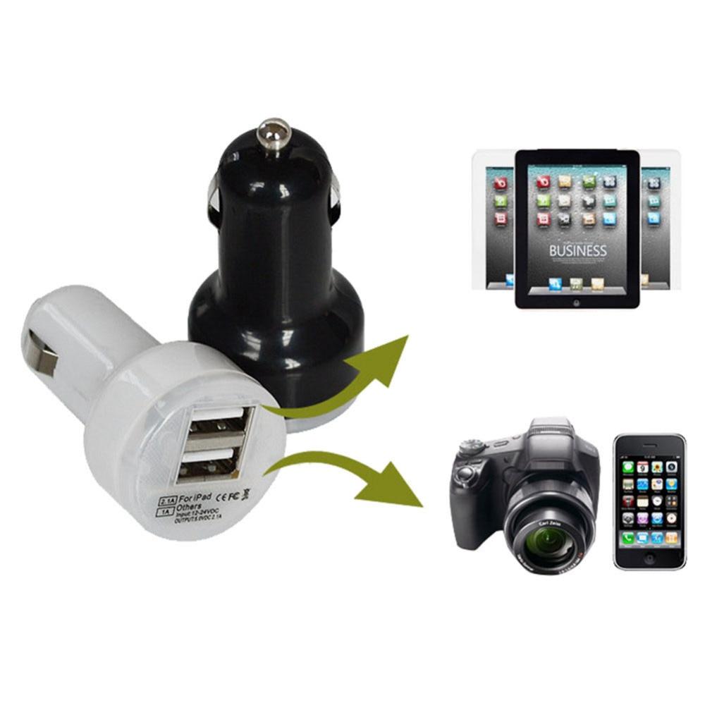 Evrensel 2.1A / 1A Çift USB araç şarj 2 port Çakmak Adaptörü - Cep Telefonu Yedek Parça ve Aksesuarları - Fotoğraf 2