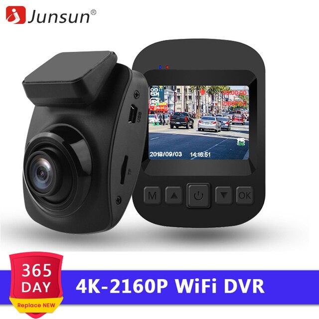 Junsun S66 WiFi Автомобильный видеорегистратор 4 K 2160 P Ультра hd-рекордер Dash видеорегистратор монитор парковки ночного видения NTK 96660 видеонаблюдение
