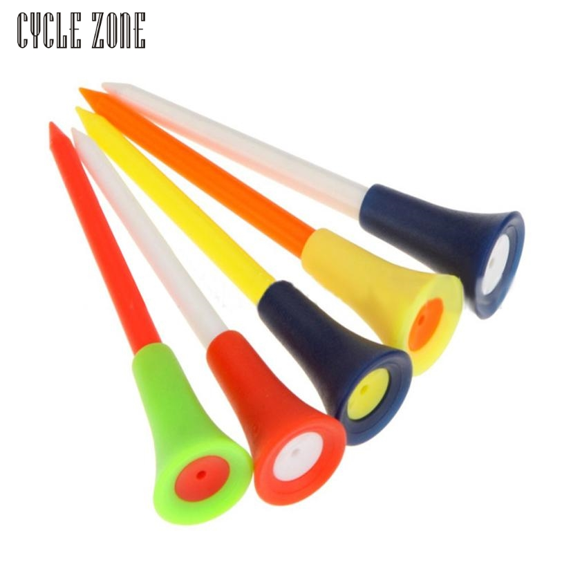 Cycle Zone Activing 30PC Multi Color Plastic 83mm Durable Rubber Cushion Top Golf Tee