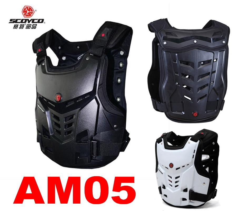 SCOYCO Knight protectore Motorcycle armor jacket Cross-country DROP nursing back vest chest protector armors AM05 Black white scoyco am05 racing motorcycle body armor protector black size l