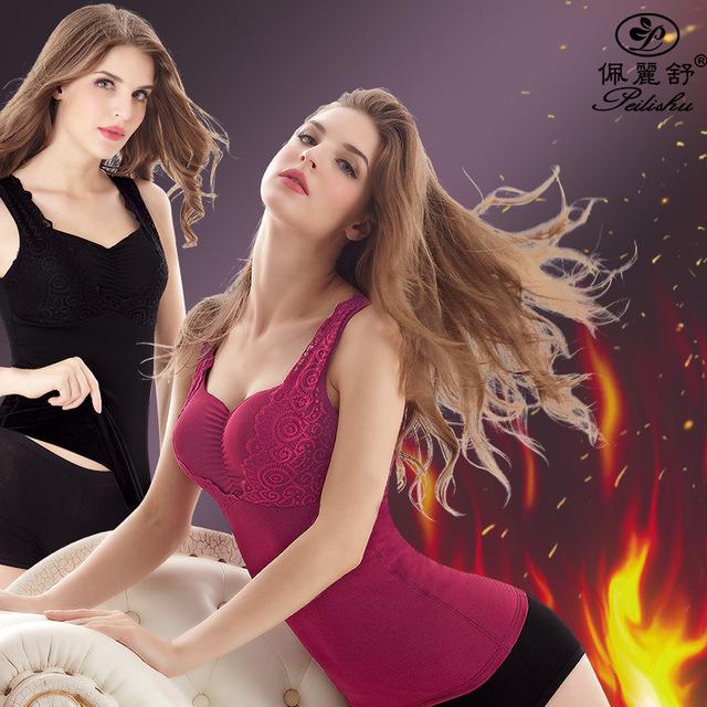 XL-5XL Mulheres Shapers Do Corpo Quente Para Calças Justas Espartilhos Pós-parto Controle Trimmer Feminino Tops Com Sutiã Dentro De Veludo