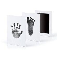 Non-Poisonous Child Handprint Footprint Imprint Package Casting Dad or mum-child Hand Inkpad Fingerprint Watermark Toddler Care Child's Set