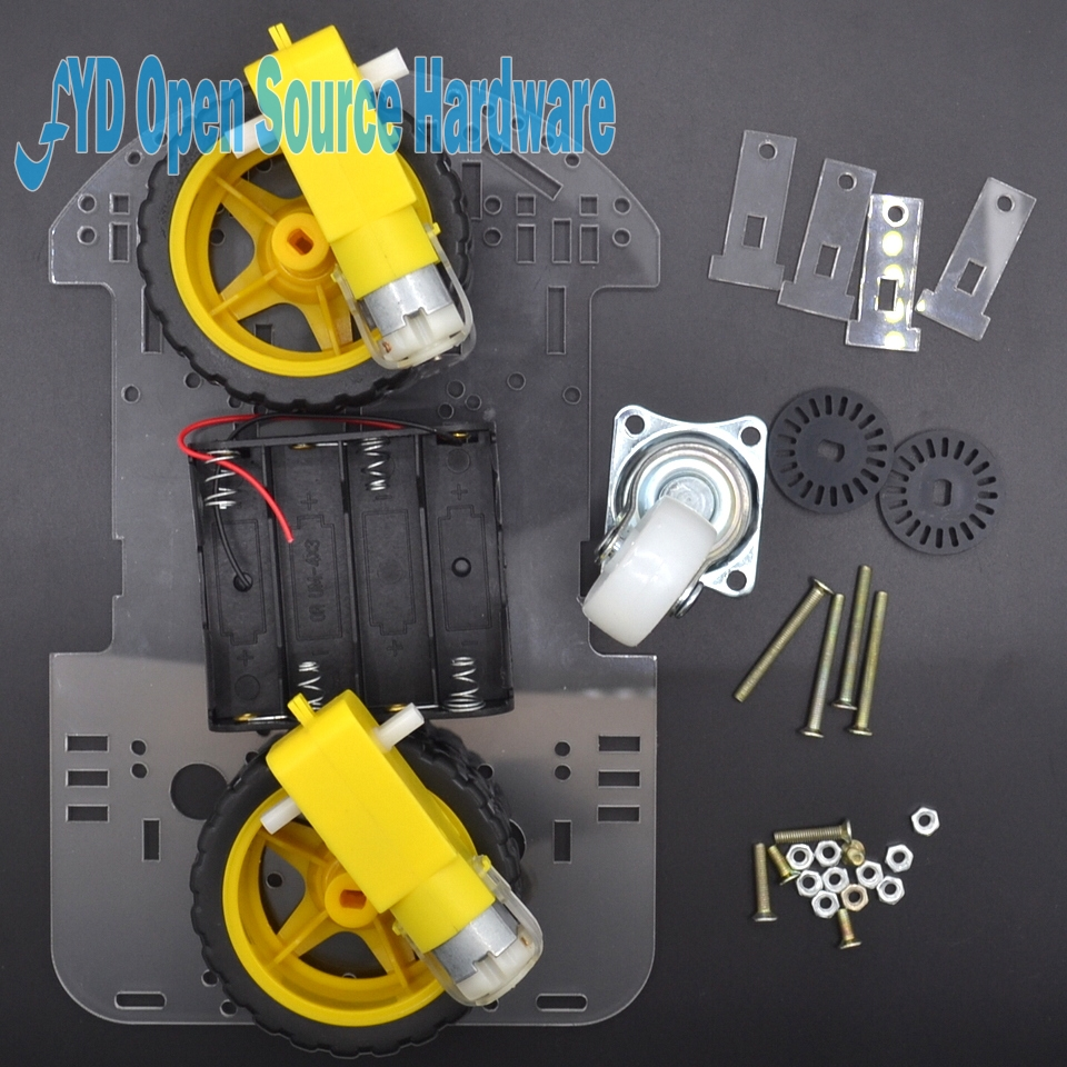 New Motor Smart Robot Car Chassis Kit Speed Encoder Battery Box 2WD Tracking Obstacle Avoidance Intelligent
