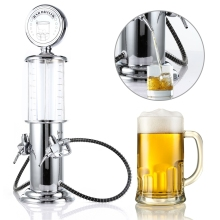 New Mini Beer Dispenser Machine Drinking Vessels Double Gun Pump with Transparent Layer Design Gas Station Bar for Wine