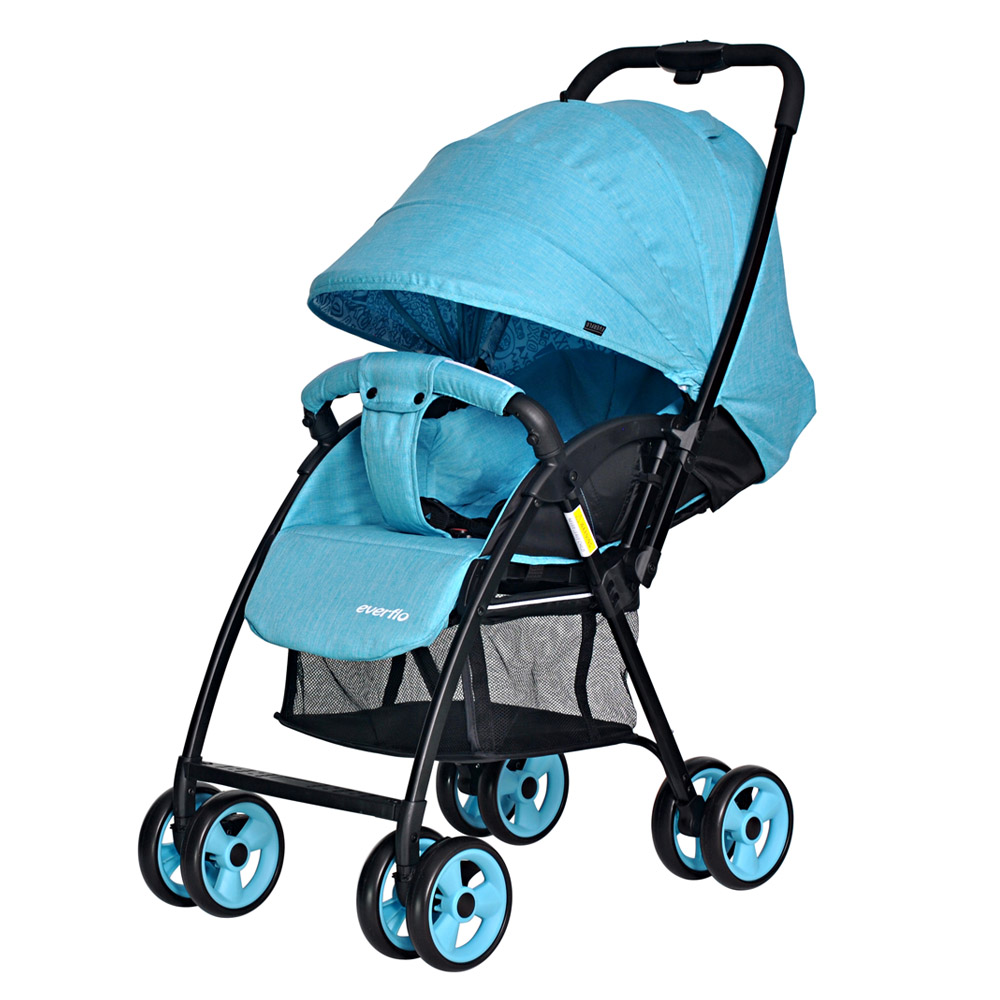 Lightweight Stroller Everflo E-501 Letter Mother and Kids stroll baby for boys and girls children strollers Blue 100004176