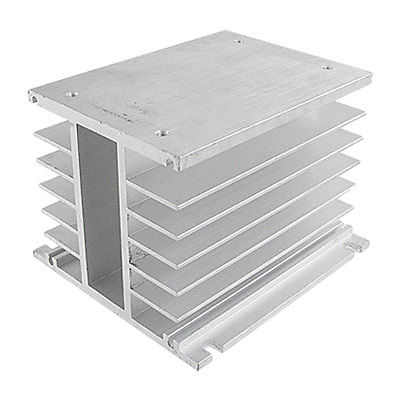Aluminum Heat Sink for Solid State Relay SSR Heat Dissipation Three 3 Phase 25a ac 380v solid state relay voltage resistance regulator w aluminum heat sink