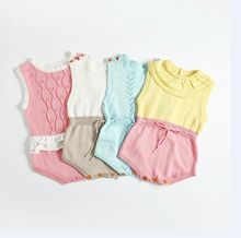 2017 Ins Hot Knitted Romper Newborn Boy Suits for babies Girls Baby rompers Ovearlls Ruffles Princess Kids Girl Romper 4M-3YRS