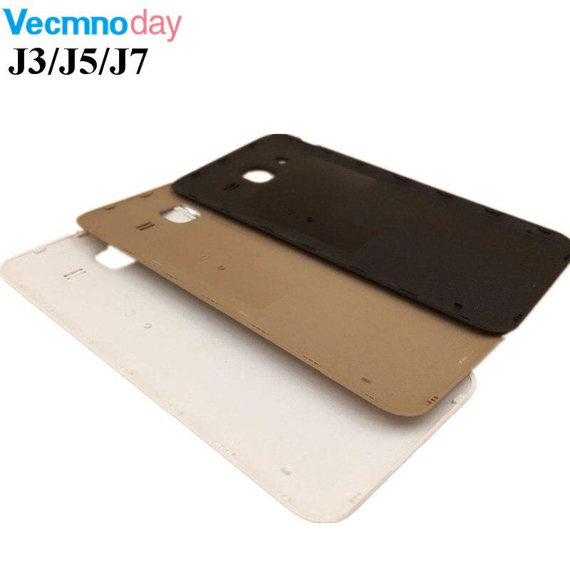 Vecmnoday Батарея крышка Корпус для Samsung Galaxy J3 J5 J7 2015 j300 <font><b>j500</b></font> j700 задняя крышка задняя дверь Запчасти для авто