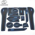 Para KIA Rio K2 estera antideslizante Puerta Ranura Mat pad ranura puerta alfombras de interiores decoración del cuerpo productos accesorios parte 2011-2014