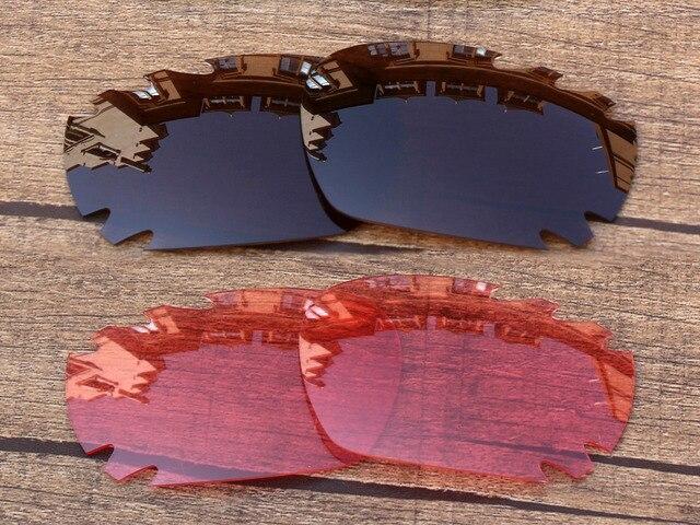 Медно-Коричневый и Розовый Кристалл 2 Пар Замена Линзы Для Jawbone Вентилируемый Солнцезащитные Очки Кадров 100% UVA и UVB Защиты