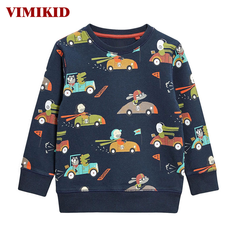 VIMIKID 2017 Children T-shirt Boys Clothes Brand Baby Boys Tops&Tees with Animal Kids Long Sleeve Sweatshirt Boys T shirts