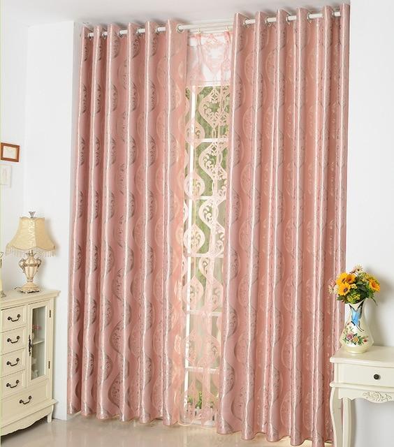 FYFUYOUFY modern simple Pastel orange Shading cloth curtain Wave ...