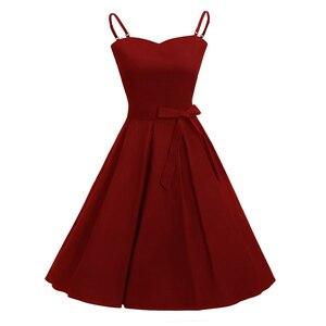 Женское винтажное платье MISSJOY, черное Бандажное платье на тонких бретельках, 4XL