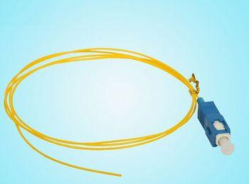 Envío libre 50 unids/lote monomodo simplex PVC 0.9mm 1.5 Metro SC/UPC Fibra óptica pigtail SC/UPC pigtail