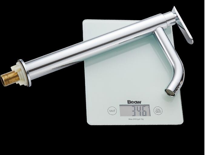 Tuqiu смеситель для раковины Одноместный холодный кран для ванной комнаты смеситель для раковины ванной комнаты высокий хромированный латунный кран для холодной воды