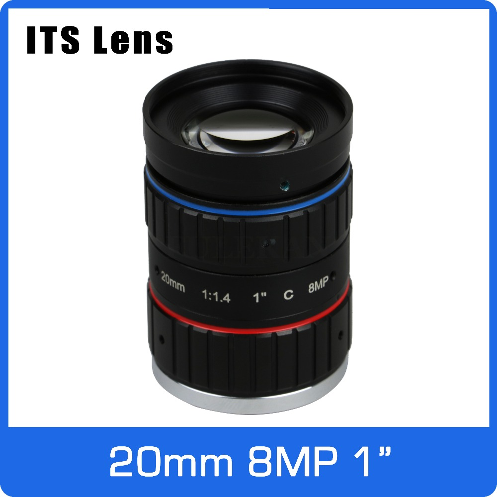 1 inch 8MP ITS Lens 20mm  Ultra Starlight F1.4 C Mount For Electronic Police or Traffic Camera1 inch 8MP ITS Lens 20mm  Ultra Starlight F1.4 C Mount For Electronic Police or Traffic Camera
