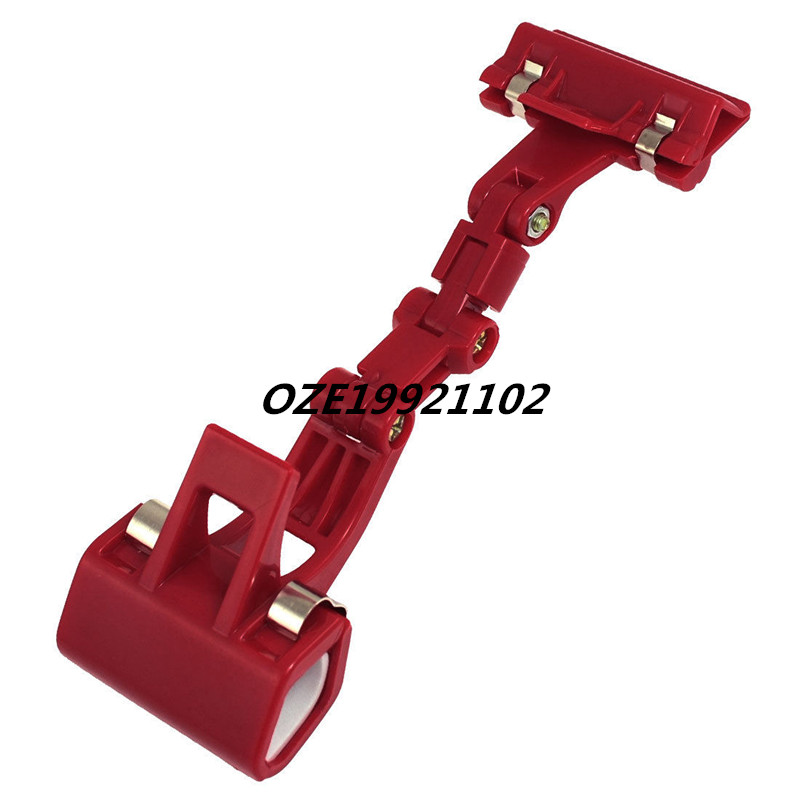 1PCS Adjustable Red Plastic Sign Clip Clamp Poster Price Label Holder 18cm