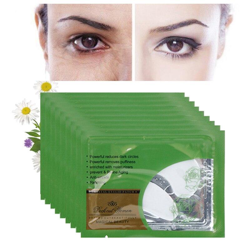 Paquet de 5 patchs pour les yeux en cristal de masque pour les yeux en collagène pour les yeux