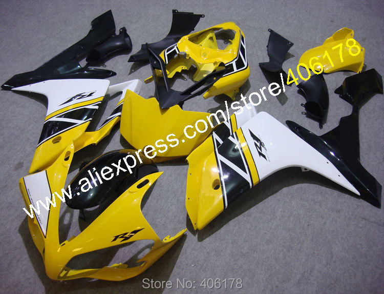 Hot Sales,For YAMAHA YZF-R1 YZF R1 2007 2008 YZFR1 07 08 YZF1000R Yellow Black White body work fairings (Injection molding)