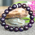 Wholesale Genuine Natural Dark Purple Sugilite Stretch Finish Bracelet Round beads 11mm 03773