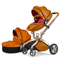 hot mom baby stroller high landscape can sit in the baby car portable baby trolley suspension