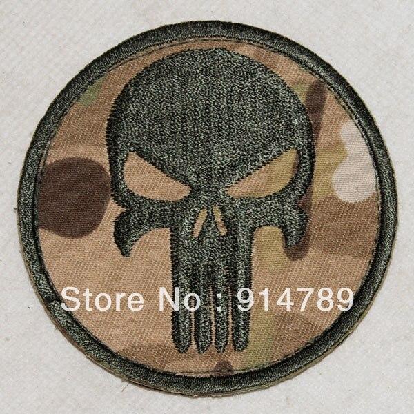 PUNISHER SKULL SEAL NAVY GUNS PAINTBALL SNIPER  PATCH MULTI CAMO -32413