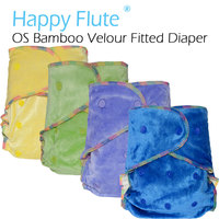 Beilesn Onesize Bamboo Velour Fitted Diaper 100 Natural Diaper Aio Bamboo Diaper 5 Sets Per Parcel