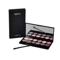 QiBest Makeup Eye Shadow 12 Color Matte Silky Powder Eye Shadow Palette With Eyeshadow Brush High