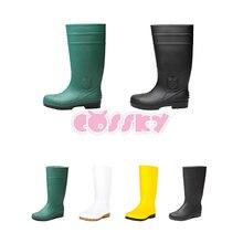 Обувь для костюмированной вечеринки Stephen King's It; ботинки Джорджи денбро; аксессуары для рождественского костюма на Хэллоуин; зеленые резиновые сапоги