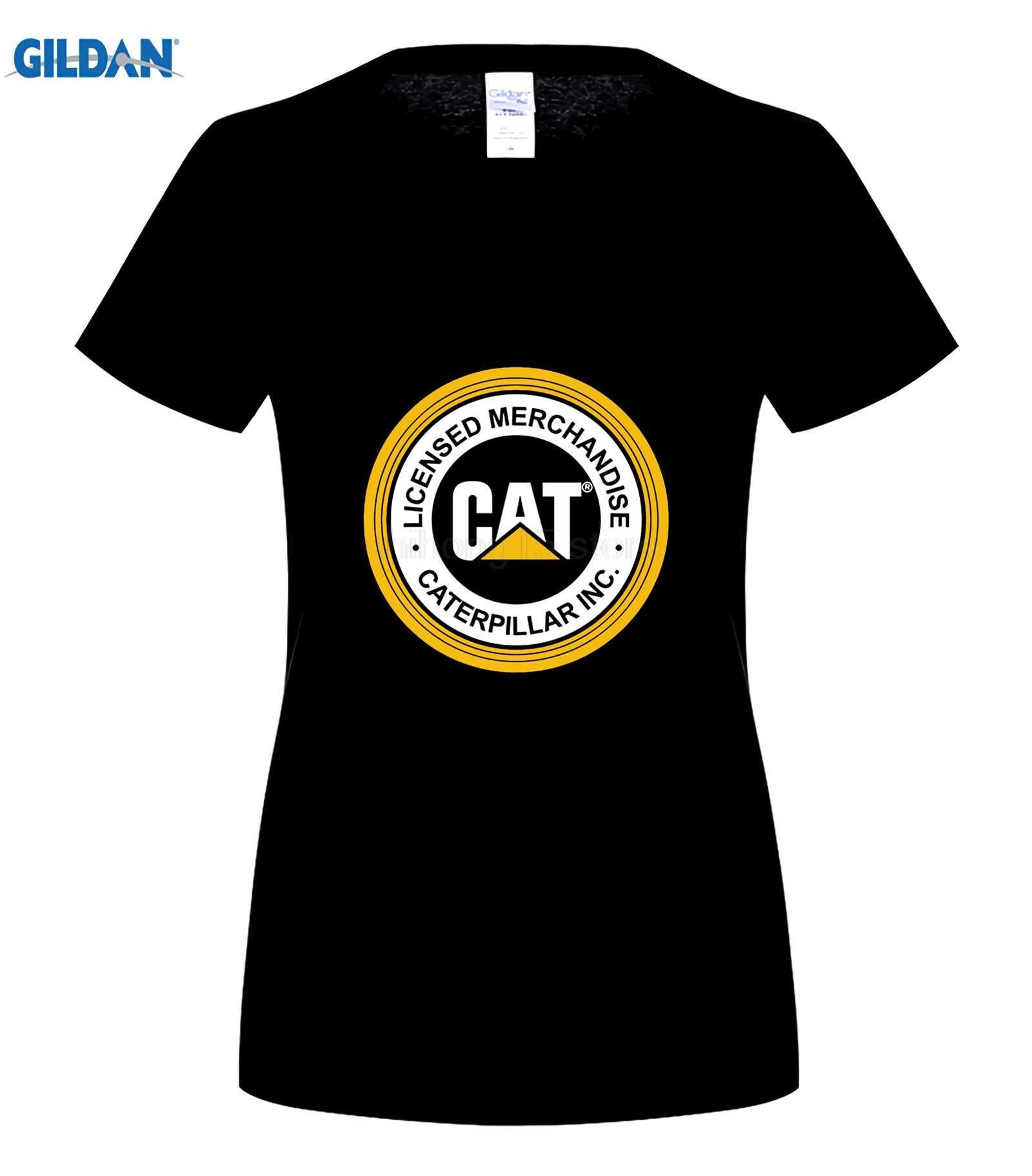 Men t shirt new fashion caterpillar logo printed graphic tops black t shirt men
