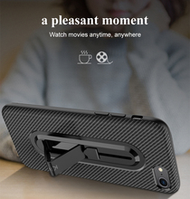 Fastdeng Carbon Fiber Case For Iphone X XS XR XSmax 5 5S 5E 6 6S 6P 6SP 7 7P 8 8P With Hidden Ring Bracket цены онлайн