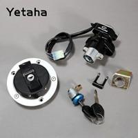 Yetaha Motorcycle Ignition Switch Fuel Gas Tank Cap Cover Seat Lock Key Set Kit For Suzuki GSF650 Bandit GSX650 750 1000 GSXR600