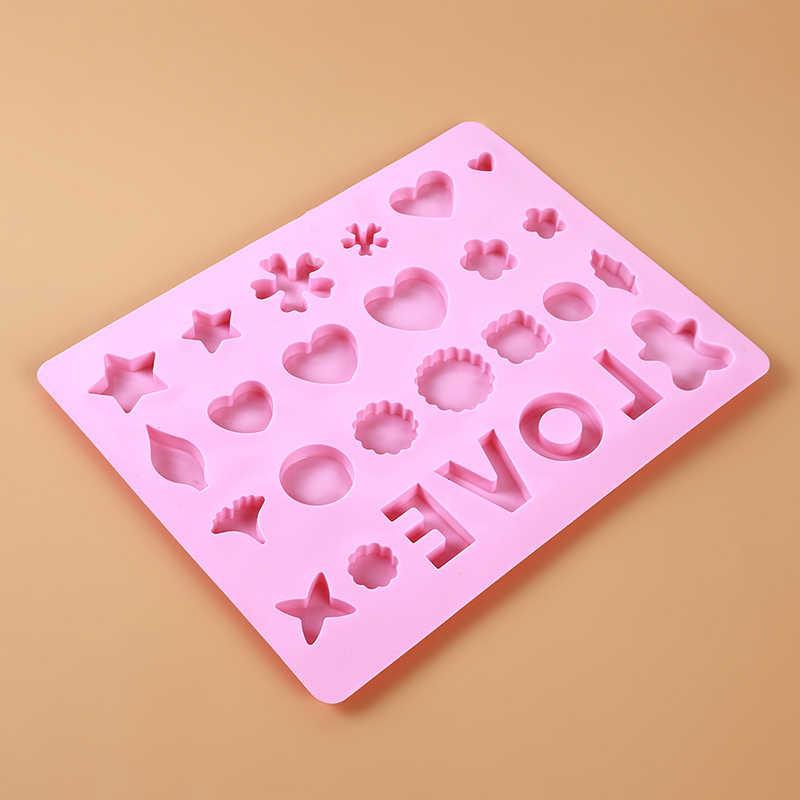 Star Love Heart Shape ซิลิโคนอมยิ้มแม่พิมพ์ Sticks ซิลิโคนรูปแบบแม่พิมพ์สำหรับช็อกโกแลตลูกอมแม่พิมพ์ตกแต่งเค้ก