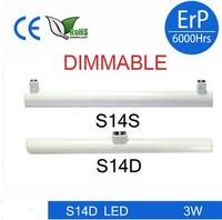DHL Shipping Newest Dimmable Linestra S14d S14s Led Tube Light 3w 6w 10w 15w 300mm 500mm1000mm