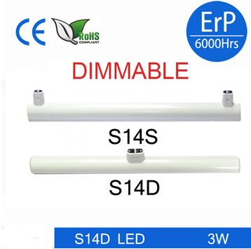 DHL shipping Newest dimmable linestra S14d S14s led tube light 3w 6w 10w 15w 300mm 500mm1000mm replacement S14 osram linestra лампы special linestra spc lin 1603 цена