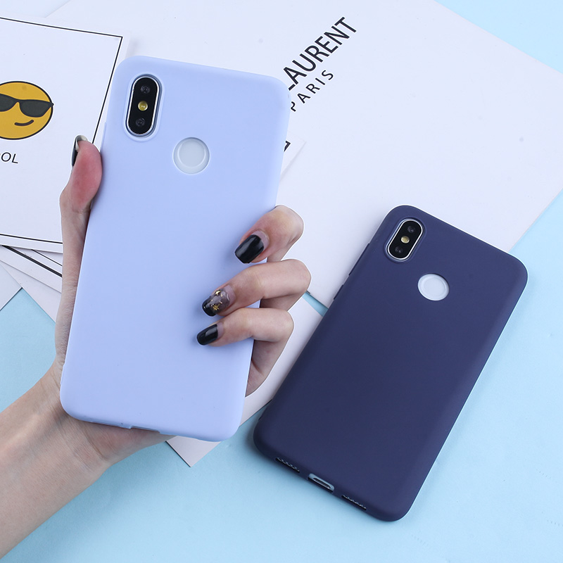Candy Color Case For For Xiaomi Mi 9 8 Lite Redmi Note 7 6 5 Pro 4X TPU Silicone Matte Case For Redmi 7 6 Pro 6A 5 Plus 5A 4A 4X in Fitted Cases from Cellphones Telecommunications