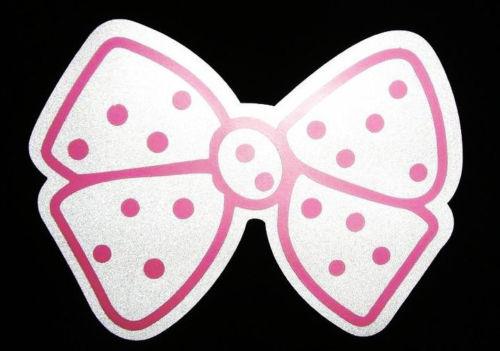 Pink Dot BOW TIE Decor Sticker Car Auto Bumper Vinyl Decal Laptop Cute Girlie 7inx5in