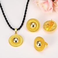 Cielo talento bao Promoción al por mayor joyas de Etiopía conjuntos joias ouro 24 K Real de Oro Amarillo GF Joyería nupcial Africano de Etiopía