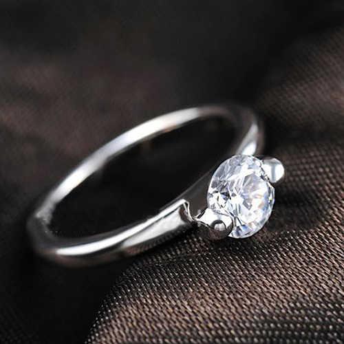 Женская мода Сплав полоса горный хрусталь Декор палец кольцо ювелирные изделия амулеты подарок