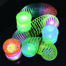 party supplies Colorful Rainbow Circle Toy Flashing Children Funny Gift Glow in Dark birthday decorations kids