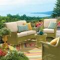 2017 New Beautiful Resin Garden Rattan Furniture green rattan furniture