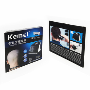 Image 5 - Kemei saç kesme 0mm kel kafalı erkekler DIY saç kesici taşınabilir saç sakal düzeltici akülü kısayol Pro kendini saç kesimi makinesi
