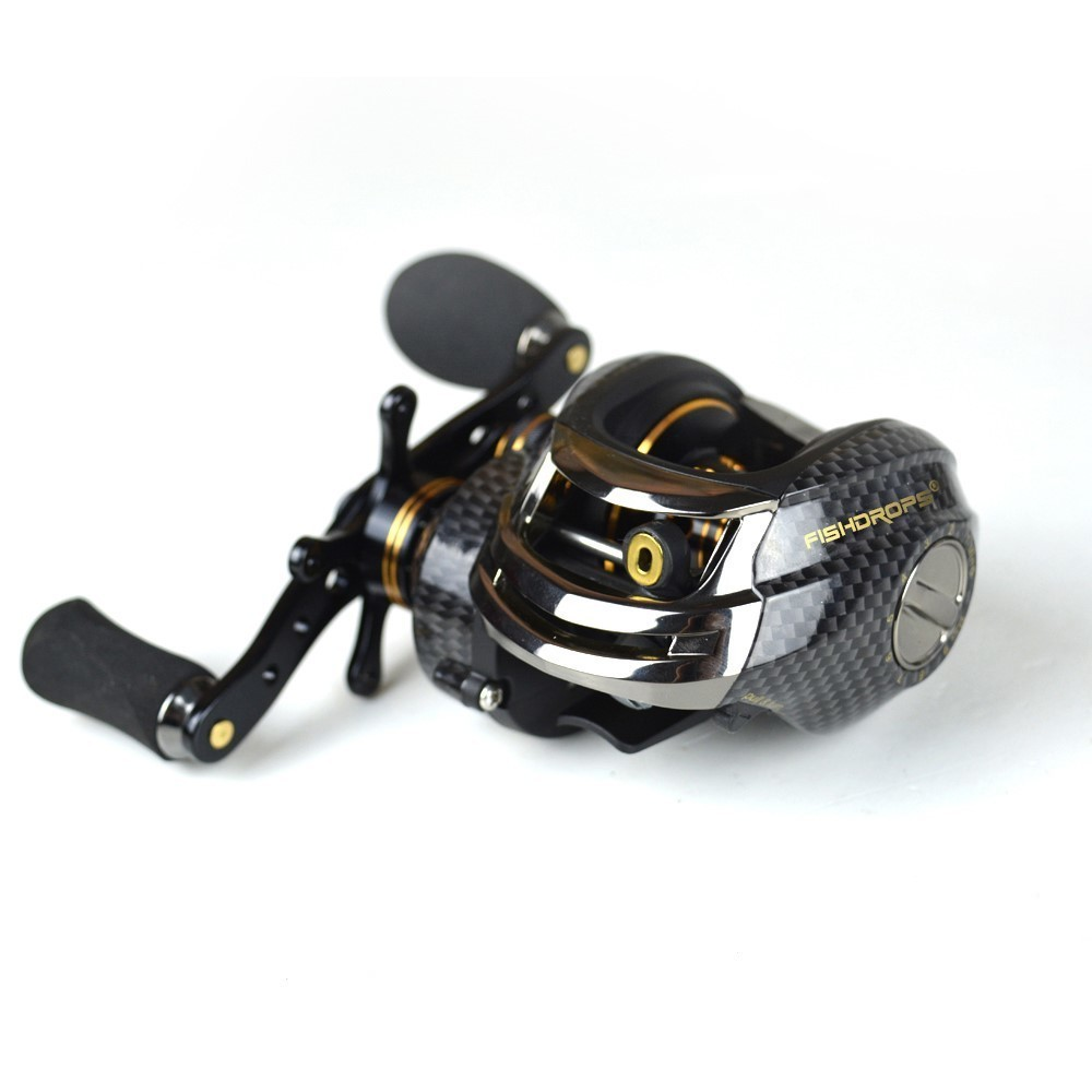 Fishdrops Lb200 7.0:1 Double Brake System 18BB Baitcasting Reel Left Right Hand Saltwater Bait Casting Reel Fishing Reels 18bb 1 ball water drop wheel bearings double brake baitcasting reel fishing gear right left hand bait casting fishing wheel