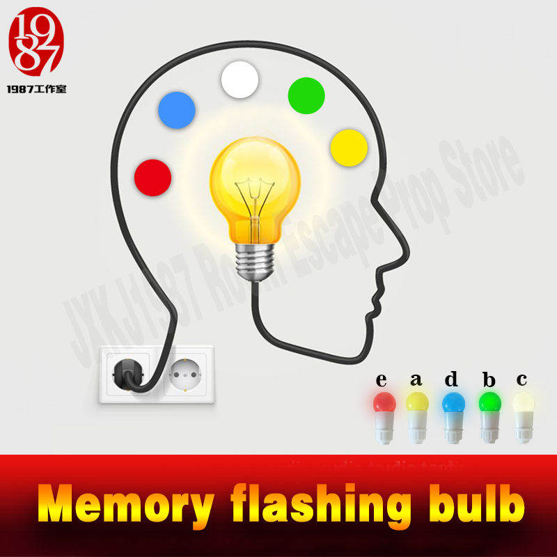 Real life room escape prop Memory flashing bulb Memory buttons Christmas blubs escape room puzzle from