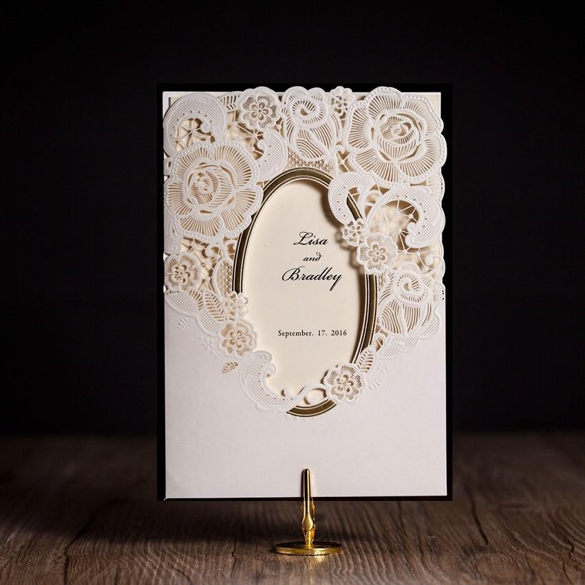 cw espejo marco de la invitacin de boda del corte del laser envo gratis para imprimir