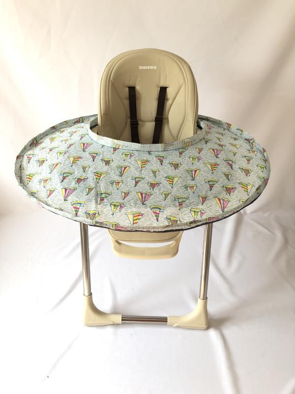 6 цветов ресторанное и домашнее детское блюдце для кормления, чехол на стульчик для кормления, зародыши предотвращает падение еды и игрушек на пол - Цвет: Sailboat Saucer