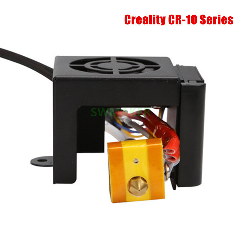Creality 3D Full Assembled Extruder Kits+ 2pcs Fans+Fan Cover Air Connections Nozzle Kits for CR 10 Series 3D Printer Parts-in 3D Printer Parts & Accessories from Computer & Office    1