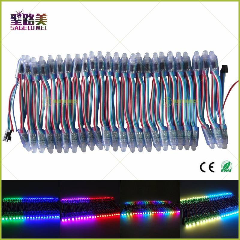500 шт. DC5V 12 мм WS2801 модуль IC LED пиксель Водонепроницаемый IP68 полный Цвет адресуемых для рекламы буквы знак Рождество
