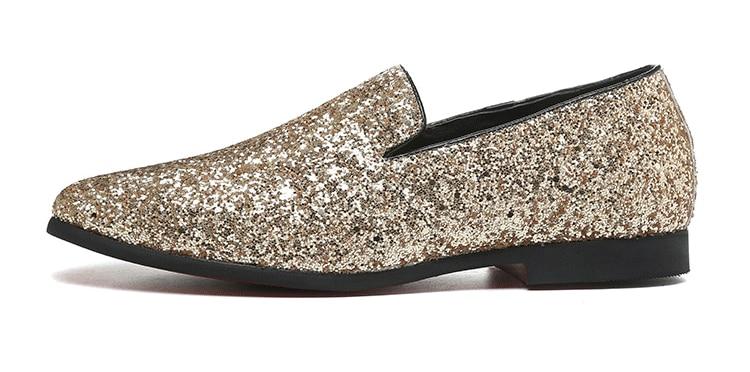 luxo mocassins sapatos masculinos estilo britânico prata