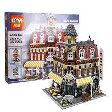 lepin 15002 Creators Cafe Corner Model Building Kits Blocks Kid Toy Gift 2133Pcs Bricks